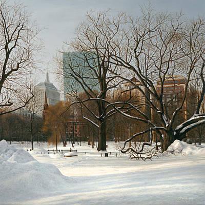 Boston Painting - Pru View Boston Common by Julia O'Malley-Keyes