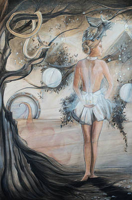 Orbs Painting - Prudence by Jacque Hudson
