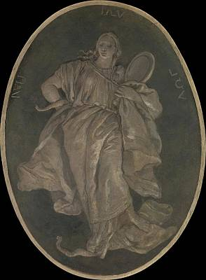 Grisaille Painting - Prudence by Workshop of Giovanni Battista Tiepolo