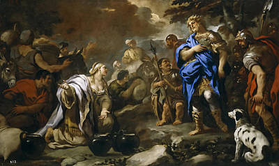 Prudent Abigail Art Print by Luca Giordano