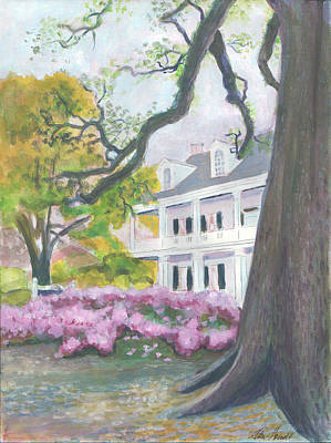 Painting - Prudhomme-rouquier House In Natchitoches by Ellen Howell