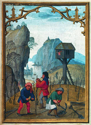 Literature Painting - Pruning Vines, C1515 by Granger