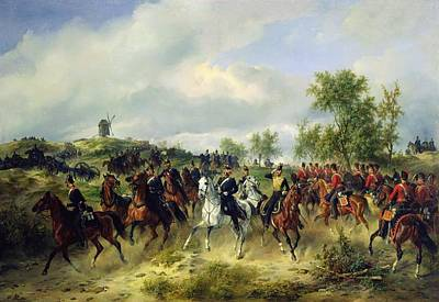 Prussia Photograph - Prussian Cavalry On Expedition, C.19th Oil On Canvas by Carl Schulz