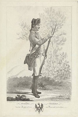 Prussian Musketeer With Musket And Bayonet Art Print