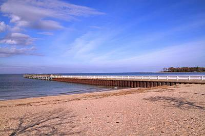 Photograph - Prybil Beach Pier by Bob Slitzan