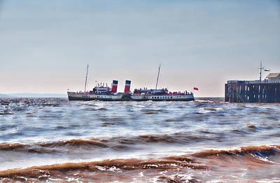 Ps Waverley Leaves Penarth Pier 2 Art Print by Steve Purnell
