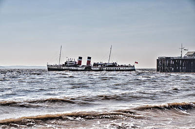 Ps Waverley Leaves Penarth Pier Print by Steve Purnell
