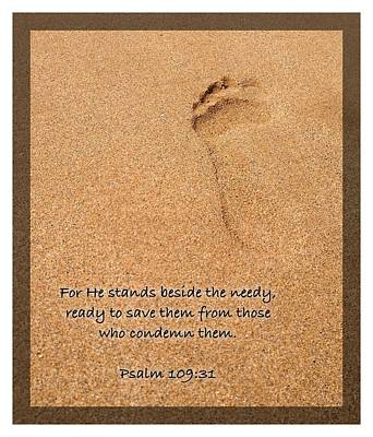 Photograph - Psalm 109 31 by Scripture Pictures