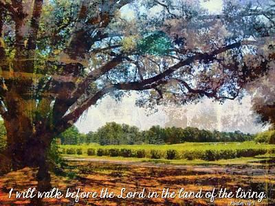 Psalm 116 9 Art Print by Michelle Greene Wheeler