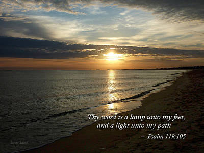 Photograph - Psalm 119-105 Your Word Is A Lamp by Susan Savad