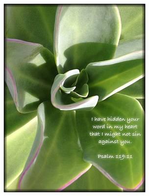 Psalm 119 19 Art Print