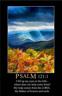 Digital Art - Psalm 121 by John Haldane