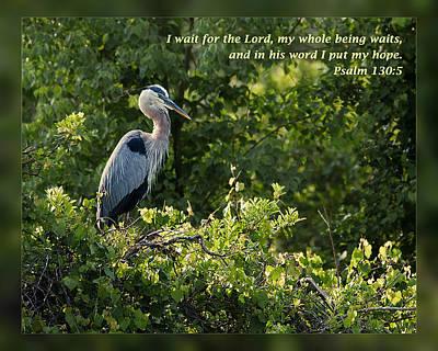 Psalm 130 5 Art Print