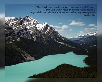 Psalm 18 2 Art Print