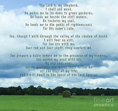 Blue Healer Mixed Media - Psalm 23 by Andrea Anderegg