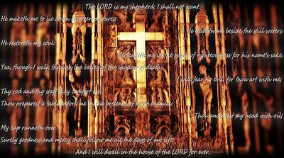 Book Of Prayers Photograph - Psalm 23 Church Interior by Dan Sproul