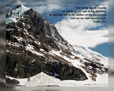 Psalm 27 5 Art Print