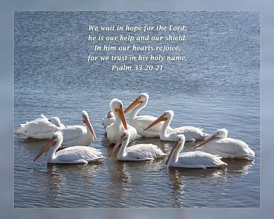 Psalm 33 20-21 Art Print