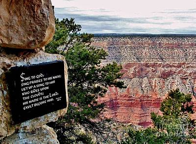 Photograph - Psalm 68 - Grand Canyon by Marilyn Smith