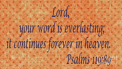 Old Masters Royalty Free Images - Psalms 119 verse 89 Royalty-Free Image by Barb Dalton
