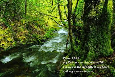 Psalms 73-26 Art Print by Jeff Swan