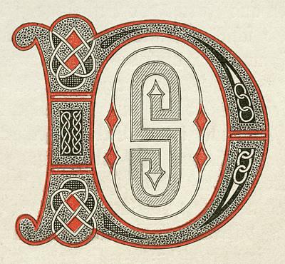 Psalter Painting - Psalter Capital D by Granger