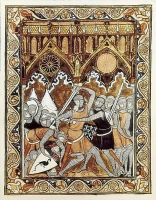 Psalter Of Saint Louis 13th C.. Abraham Art Print