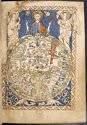 Cartography Photograph - Psalter World Mappa Mundi by British Library