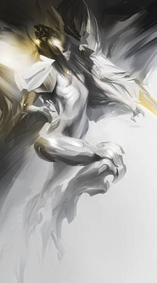 Warrior Goddess Digital Art - Psionic by Peter La