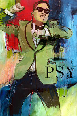 Korean Painting - Psy by Corporate Art Task Force