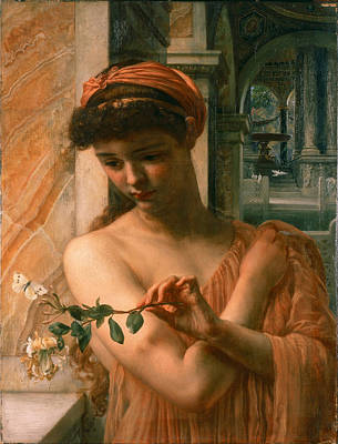 Poynter Painting - Psyche In The Temple Of Love by Edward John Poynter