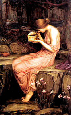 Waterhouse Painting - Psyche Opening The Golden Box 1903 by Philip Ralley