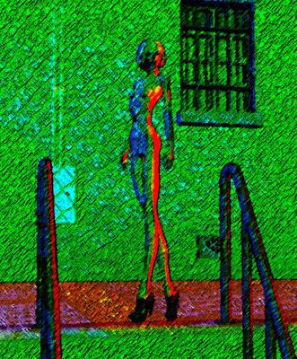 Long Street Digital Art - Psyched Sally by Gian Alberto Angiolotti