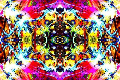 Psychedelic Abstraction Art Print by Marianne Dow