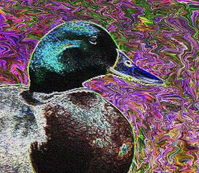 Psychedelic Anatidaephobia Art Print by Lisa Brandel