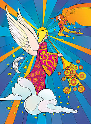 Digital Art - Psychedelic Angel by Steven Stines