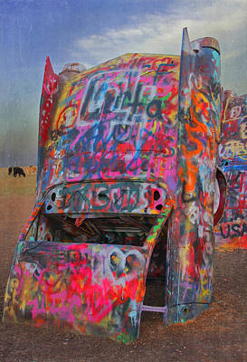 Photograph - Psychedelic Cadillac by Kathleen Scanlan