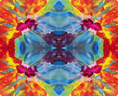 Psychedelic Collision Art Print by Pattie Calfy