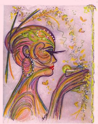 Art Print featuring the mixed media Psychedelic by Desline Vitto