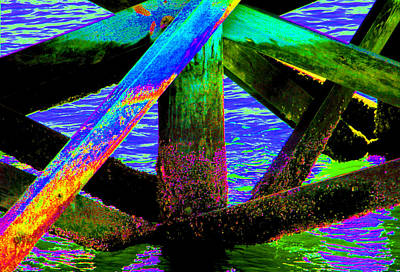 Photograph - Psychedelic Dock by Bob Slitzan