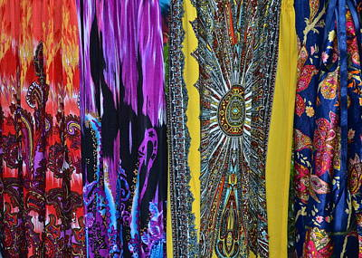 Psychedelic Dresses Art Print by Frozen in Time Fine Art Photography