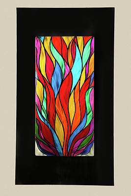 Psychedelic Flames Art Print by Rick Roth