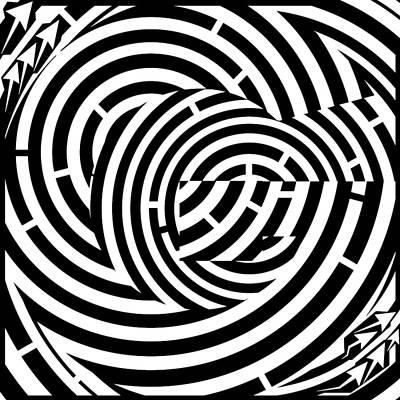 Alphabet Mazes Digital Art - Psychedelic G Yo by Yonatan Frimer Maze Artist