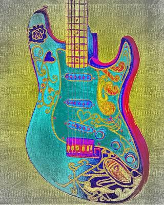 Psychedelic Guitar Art Print