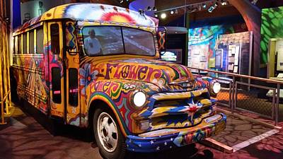 Bus Roll Photograph - Psychedelic by Jewels Blake Hamrick