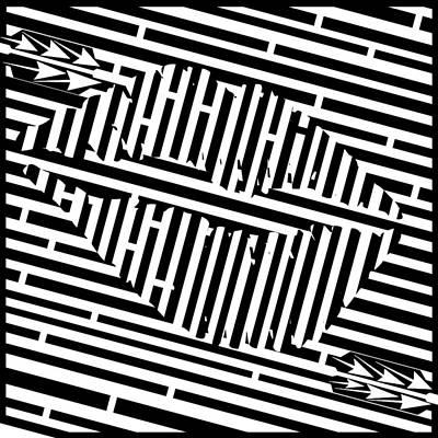 Psychedelic Kiss Maze  Art Print