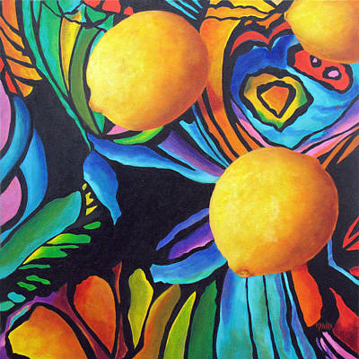 Painting - Psychedelic Lemons by Marina Petro