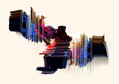 Digital Art - psychedelic Love by Panda Gunda
