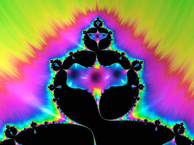 Abstract Digital Photograph - Psychedelic Mandelbrot Fractal Art by Matthias Hauser