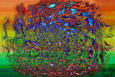 Trippy Digital Art - Psychedelic Mind by Linda Sannuti